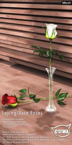 Lying Vase Roses 3