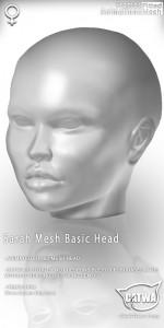 CATWA HEAD Sarah Human Ad