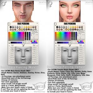 CATWA Face Piercing Male-Female Ad